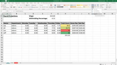 inserting  deleting worksheets  excel instructions