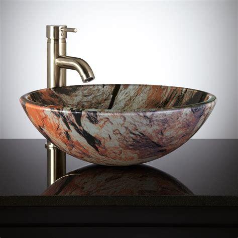 jupiter glass vessel sink bathroom