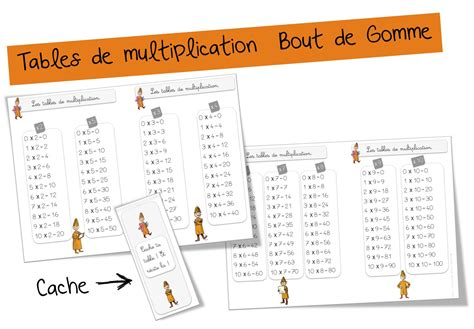 exercice de table de multiplication 2 3 4 5 6 tables de multiplication bout gommerituel multi