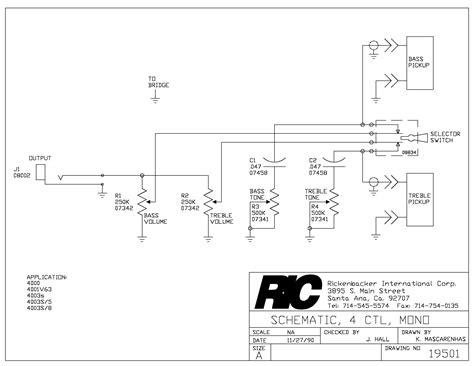 rickenbacker 4003 mono wiring diagram wiring diagram