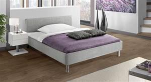 Polsterbett 140x200 Grau : preiswertes graues polsterbett in 140x200 cm gravelines ~ Whattoseeinmadrid.com Haus und Dekorationen