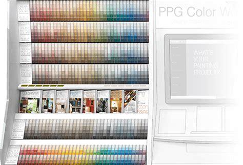 voice of color ppg the voice of color paint color palette kiosk