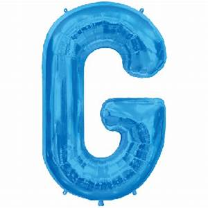 blue letter g 36 inch foil balloon buy party items and With blue letter balloons