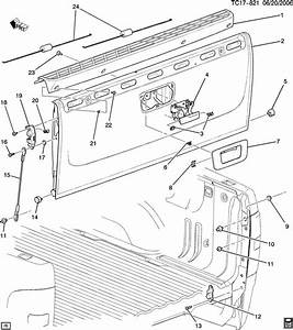 35 Gmc Sierra Tailgate Latch Diagram