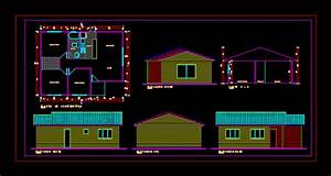 Cabin For Vacation With Floor Plans 2D DWG Design