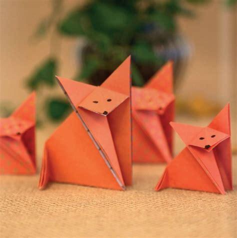 origami fuchs anleitung origami fuchs falten dekoking