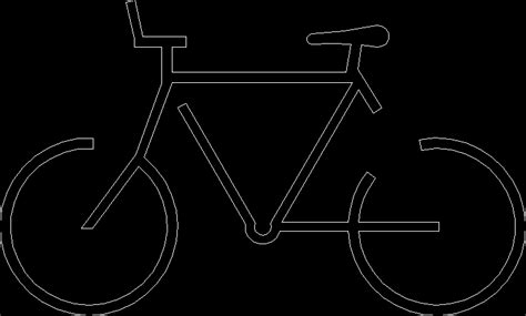 Symbol Bike 2d Dwg Block For Autocad • Designs Cad