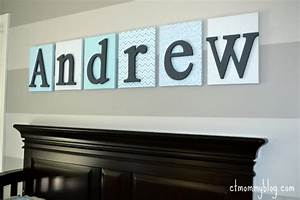 diy nursery wall letters ct mommy blog With nursery wall letters boy