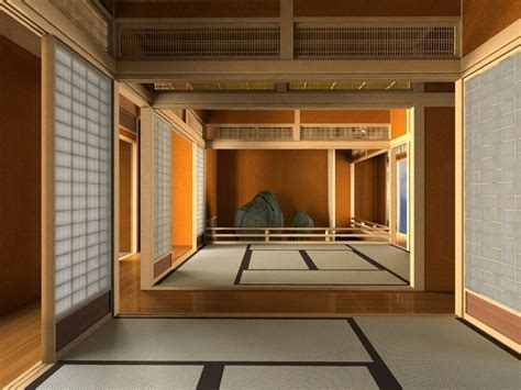 Japanese tea house interior   Video and Photos