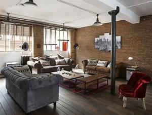Deco Mur Interieur Moderne : la deco loft new yorkais en 65 images ~ Teatrodelosmanantiales.com Idées de Décoration