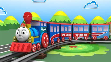 Steam Locomotive. Construction Game