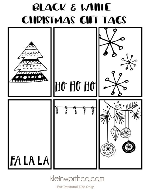 black white free printable gift tags guy gift idea