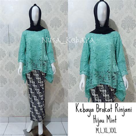 kebaya hijau mint hijab galeri busana  baju muslim
