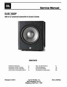 Jbl Sub 260p Service Manual
