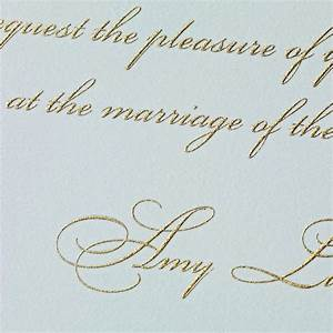 styledeventcom engraved and embossed and letterpress With raised lettering invitations