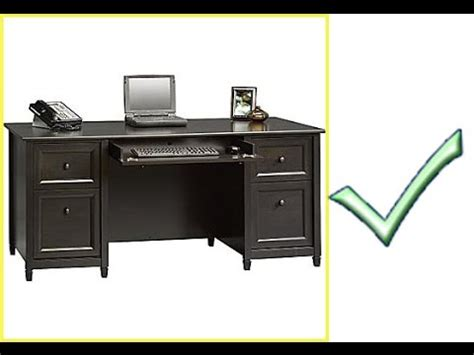 sauder edge water executive desk chalked chestnut sauder edgewater executive desk ideas greenvirals style