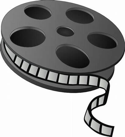 Clip Reel Clipart Film Cliparts Movies Vector