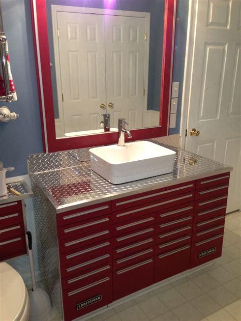 Shop Vanities by Craftsman Tool Box Vanity With Vessel Sink Unique