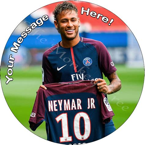 neymar jr edible cake image topper personalised