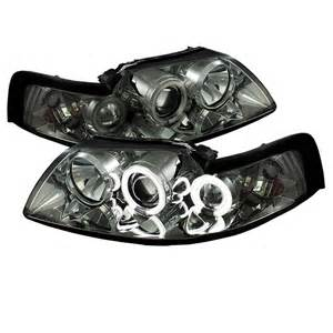 Ford Mustang 1999-2004 Ccfl Projector Headlights - Smoke by Spyder Auto - 444-FM99-1PC-CCFL-SM