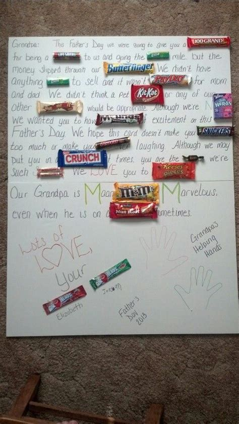 fathers day candy card  grandpa    grandkids