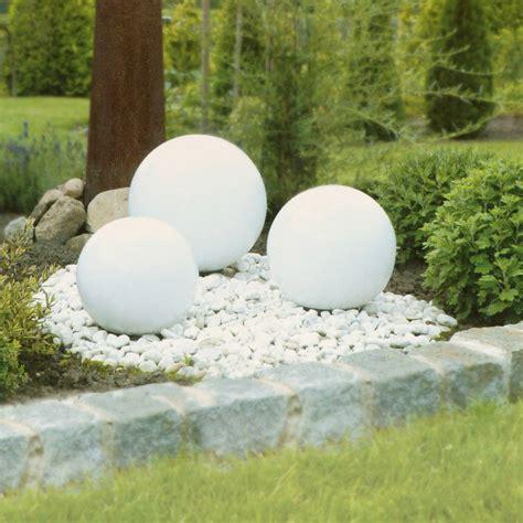 Led Solarkugel Gartenstecker Mit Erdspieß Solarleuchte Ø 30 Cm