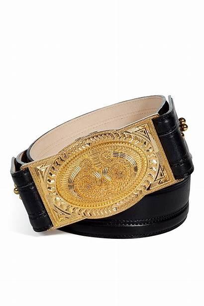 Belt Buckle Gold Leather Balmain