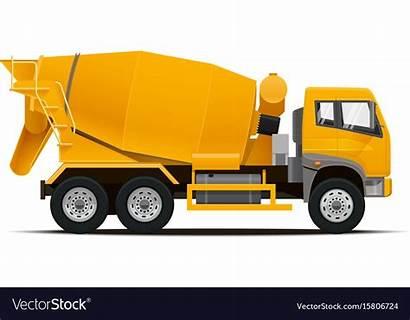 Truck Cement Mixer Vector Vectorstock Royalty