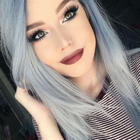 Best 25 Silver Blue Hair Ideas On Pinterest
