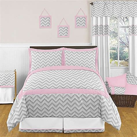 gray and pink comforter set sweet jojo designs zig zag bedding collection in pink grey