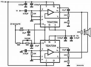 rangkaian ic tda7294 120 watt audio power amplifier With small ic amplifiers for speakers