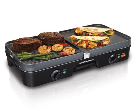 grill cuisine amazon com hamilton 38546 3 in 1 grill griddle
