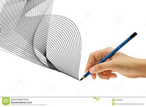 Mit Bleistift In Der Hand Zeichnen Lizenzfreie Stockfotos