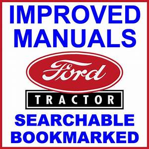 Ford 3000 Agricultural Tractor Repair Workshop Service