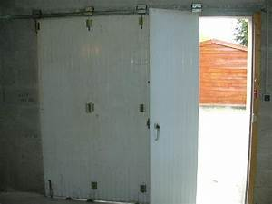 photo porte de garage en pvc blanc ouverture laterale s With porte de garage pvc blanc