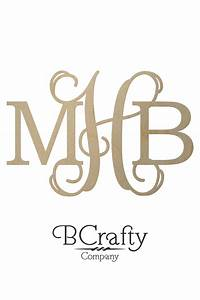 diametric wooden monogram letters bcrafty company With letter initials