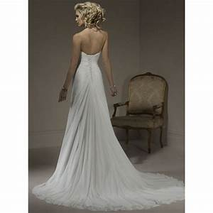 sheath strapless beading chiffon long wedding dress With sears dresses for weddings