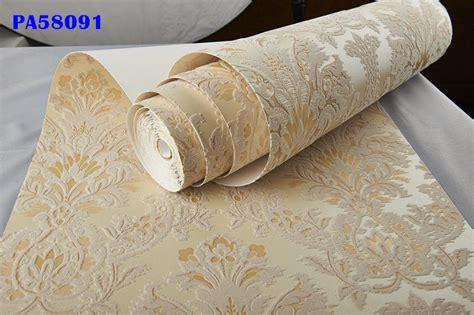 italian vintage gold beige velvet flocking damask