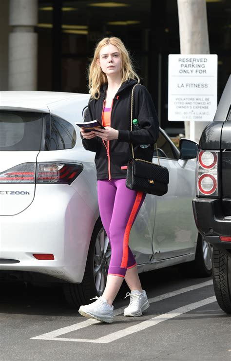 Elle Fanning - Heads to the Gym in Los Angeles 2/2/ 2017 ...