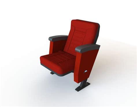cinema chair stl step iges solidworks 3d cad model