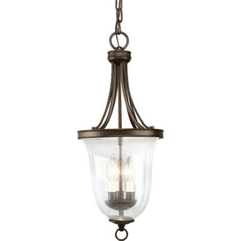 progress lighting seeded glass collection 3 light antique