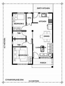 Two, Bedroom, Small, House, Design, Shd