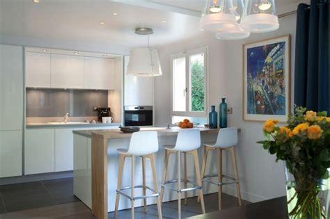 muret de cuisine comment meubler votre cuisine semi ouverte archzine fr