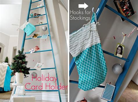 ideas  displaying holiday cards   decorate