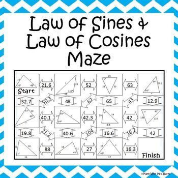 law of sines and law of cosines maze time machine law of sines pythagorean theorem law of