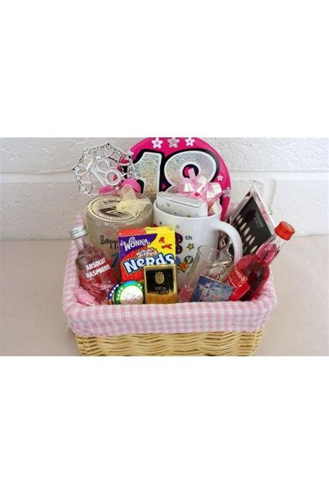 personalised  birthday girls alcohol gift basket