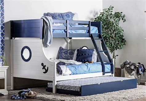 Nautia Twin Over Full Bunk Bedroom Set Furniture Of