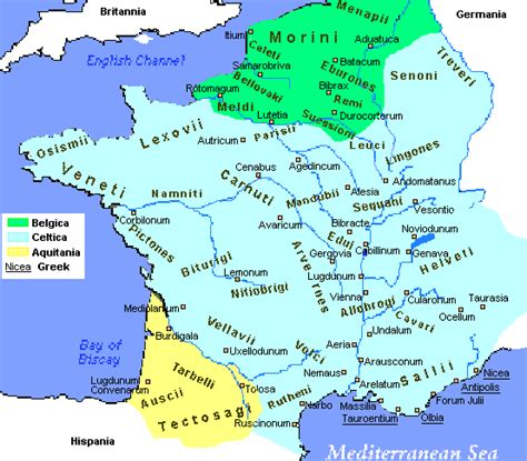 Marthas Latin Blog Gaul Then And Now Maps