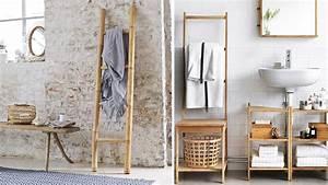 Echelle En Bois Déco : un porte serviettes chic et pas cher pour ma salle de bains ~ Dailycaller-alerts.com Idées de Décoration