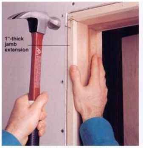 extending door jambs installing a prehung interior door home carpentry